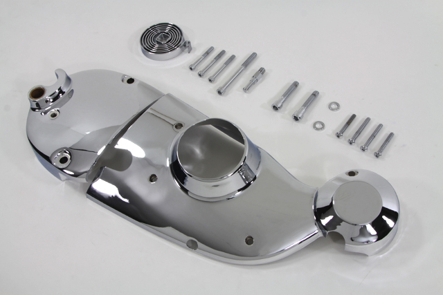 Vtwin Chrome Motorcycle Cam Sprocket Cover Kit 71-76 Harley Ironhead XL