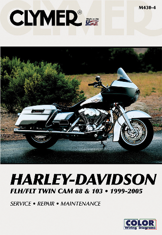 Clymer Service Repair Manual Harley Davidson 99-05 Flht Flt 88 & 103 Flhr
