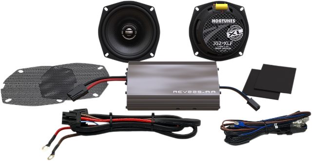 "Hogtunes Rev 225 Watt 5.25"" Front Speaker Kit 98-13 Harley Touring FLHX FLHT"