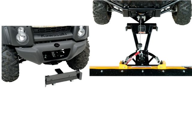 Moose Snow Plow Plate & Frame Mount Kit for 05-16 Kawasaki KAF400 Mule 610 4x4