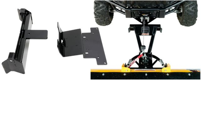 Moose Snow Plow Plate & Frame Mount Kit for 15-19 Yamaha Wolverine 700 450 4x4