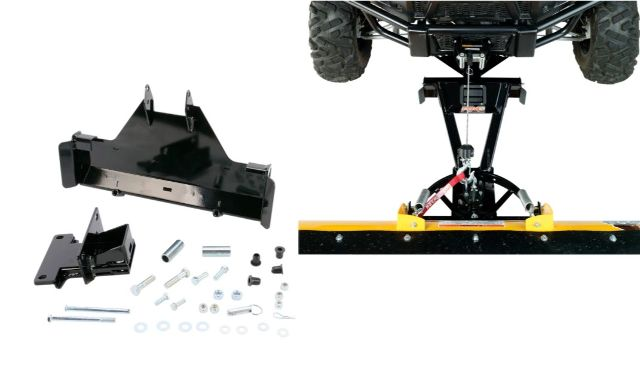 Moose Snow Plow Plate & Frame Mount Kit for 09-16 Kawasaki KAF Mule 4010 4x4