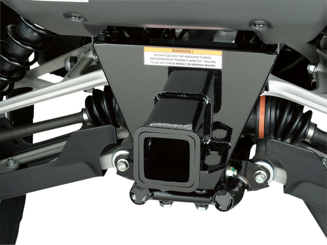 "Moose Utility Black Rear 2"" Hitch Receiver for 03-16 Honda Rincon TRX 650 680"