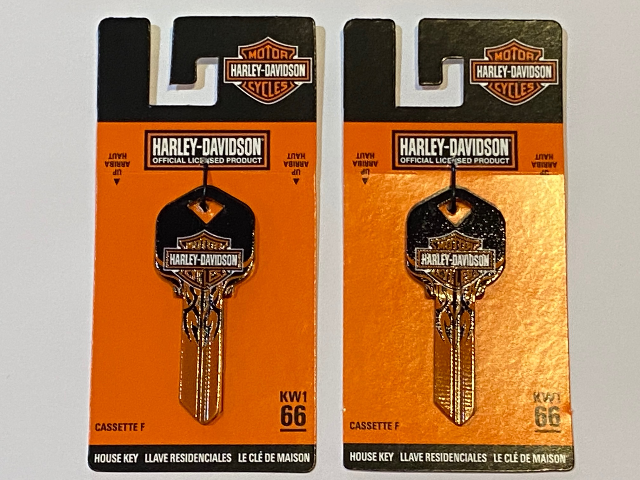 Harley Davidson Official KW1 66 Blank House Key 87414 Lot of 2