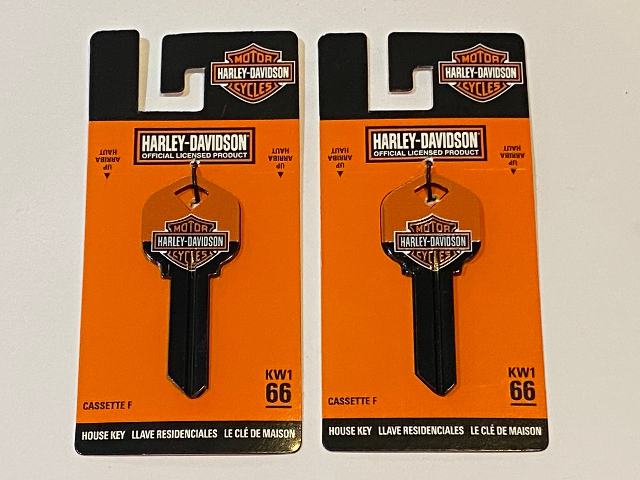 Harley Davidson Official KW1 66 Blank House Key 87415 Lot of 2