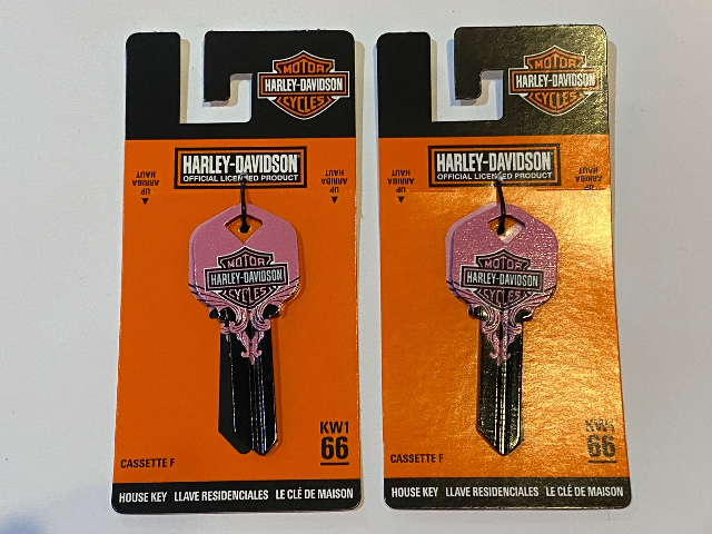 Harley Davidson Official KW1 66 Blank House Key 87416 Lot of 2