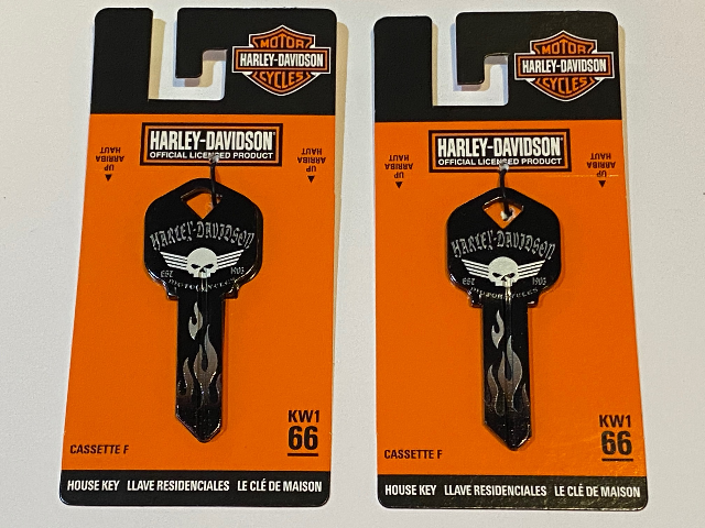 Harley Davidson Official KW1 66 Blank House Key 87417 Lot of 2
