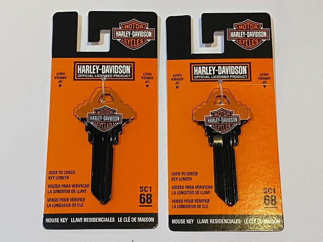 Harley Davidson Official SC1 68 Blank House Key 87423 Lot of 2