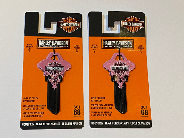Harley Davidson Official SC1 68 Blank House Key 87424 Lot of 2