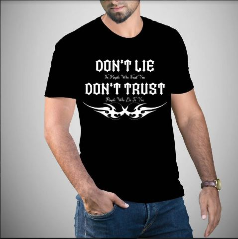 JT's Cycles Black Don't Lie Don't Trust Short Sleeve Motorcycle Casual T-shirt