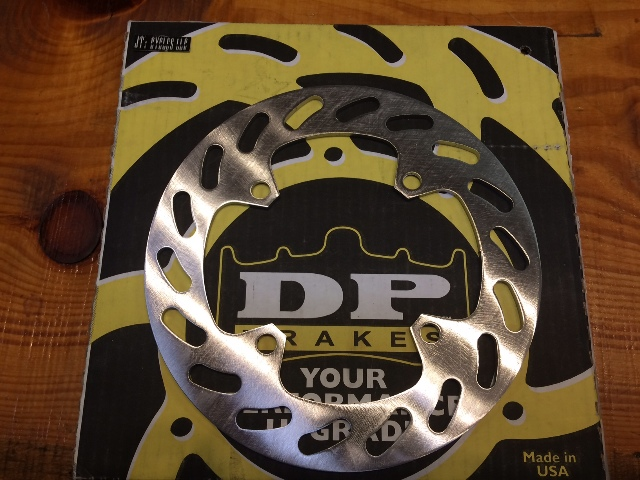 DP High Carbon Stainless Steel Rear ATV Brake Rotor for 90-08 Honda Arctic Cat