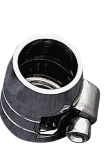 """Drag Specialties Chrome 3/8"""" Single Grooved Universal Motorcycle Hose End Clamp"""