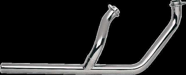 Paughco 2-1 Chrome Head Pipes for 70-84 Harley Shovelhead FX FLH FXS FXE FLHX