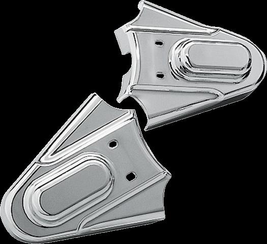 Kuryakyn 8200 Chrome Phantom Rear Axle Covers 86-07 Harley Softail FLSTC FLST