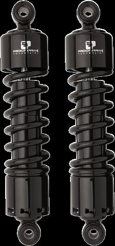 """Progressive 412 Black 11"""" Standard Rear Shocks for 91-17 Harley Dyna FXDB FXDL"""