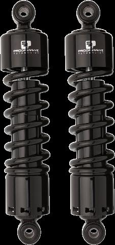 "Progressive 412 Black 11"" Heavy Duty Rear Shocks For 91-17 Harley Dyna FXD"