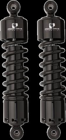 "Progressive 412 Black 12"" Standard Rear Shocks for 91-17 Harley Dyna FXDF FXDB"
