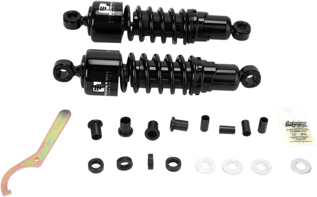 "Progressive 412 Black 11"" Low Standard Rear Shocks for 84-93 Harley FXR FXLR"