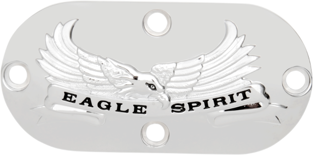 Drag Specialties Chrome Eagle Spirit Inspection Cover  for 70-06 Harley FXST FLH