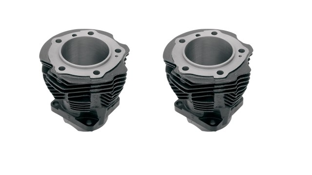 Drag Specialties Black Front & Rear Cylinders for 48-65 Harley Panhead FL EL FLH