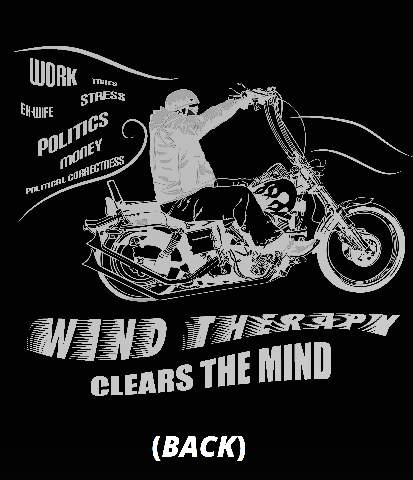"""JT's Cycle Custom """"Wind Therapy"""" motorcycle short sleeve casual Biker T-shirt"""