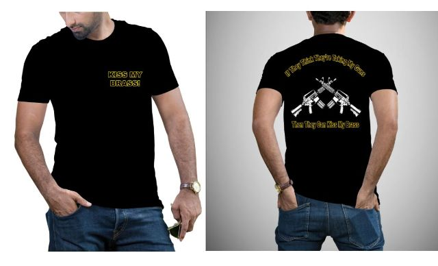 JT's Cycle Motorcycle Kiss My Brass Mens Short Sleeve Cotton Casual T-Shirt