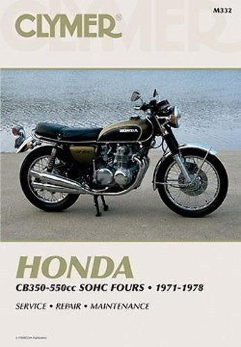 Clymer Honda 350-550 4 Cycle Service Manual 72-78 CB350 CB400 CB550 Super Sport