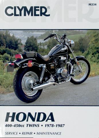 Clymer Service Repair Manual Honda 400-450cc 78-87 Hawk CM Nighthawk Rebel