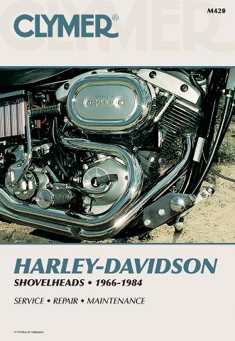 Clymer Service Repair Manual for Harley Davidson 66-84 Shovelhead FX FXSB FL FXB
