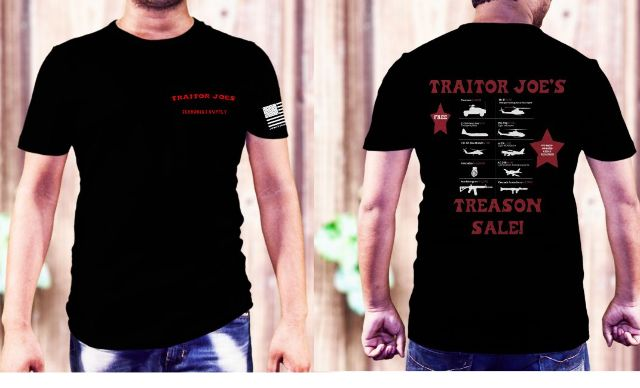 JT's Cycles Traitor Joe's Treason Sale Men's Casual Short Sleeve T-Shirt