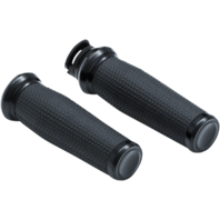 Kuryakyn 5939 Black 7/8 Thresher Handlebar Grips for 15-19 Indian Scout Bobber