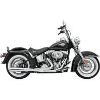 Bassani Chrome Road Rage 2-1 Long Exhaust for 86-17 Harley Softail FLSTN FLSTF