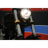 Custom Dynamics LED Fork Wrap Around Turn Signals Black Smoke 56mm 05-17 Victory