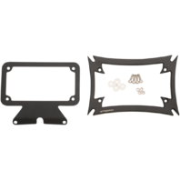Motherwell Maltese License Plate Frame & Backing Plate for 09-19 Harley Touring