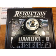 Revolution Performance Black Oil Pressure Gauge for Harley Davidson M8 Models