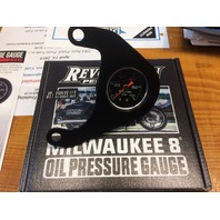 Revolution Performance Black Oil Pressure Gauge for Harley Davidson M8 Models
