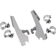 Memphis Shades Polished Trigger Lock Mounting Brackets 80-13 Harley DYNA Softail