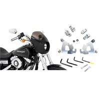 Memphis Shades Cafe Fairing & Polished Mount Kit for 10-15 Harley Sportster XLX