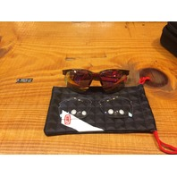 100% Unisex Sportcoupe Translucent Mirror Lens Dual Sport Wrap Around Sunglasses
