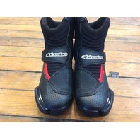 Alpinestars SMX-1 R Vented Black Red White 9.5 Mens Street Road Racing Boots