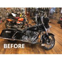 Rick Doss Chrome Saddlebag Guard Eliminator Brackets for 97-08 Harley Touring