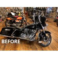 Rick Doss Black Saddlebag Guard Eliminator Brackets for 97-08 Harley Touring