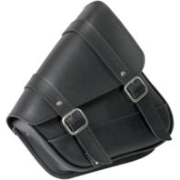Willie & Max Black Leather Left Side Swing Arm Saddlebag 87-19 Harley Sportster