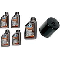 Bel Ray Synthetic Oil Change Kit & Black Filter 99-19 Harley Touring Softail