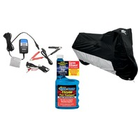 XXL Motorcycle Cover, Battery Charger & Fuel Treatment Winterized Storage Gift