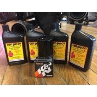 Cenpeco 4qt SAE 20W-50 Oil & Black K&N Filter 99-17 Harley Dyna Touring Softail