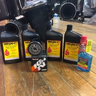Cenpeco 4qt 20W-50 Oil & Black K&N Filter Star Tron 99-17 Harley Touring Softail