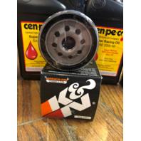 Cenpeco 4qt 20W-50 Oil & Black K&N Filter Star Tron 80-17 Harley Touring Softail
