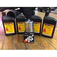 Cenpeco 4qt 20W-50 Oil Chrome K&N Filter Star Tron 80-17 Harley Touring Softail