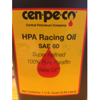 Cenpeco 4qt HPA SAE 60 Oil & Drop In Filter Kit for 65-82 Harley Touring FL FX